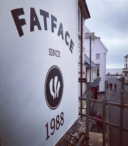 fatface-sidmouth-painted-wall